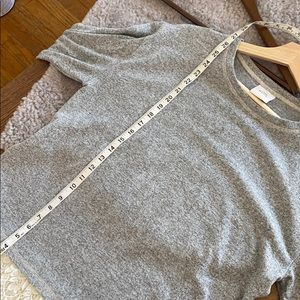 Knox Rose Sweaters - Knox Rose gray w/ lace trim sweater size L